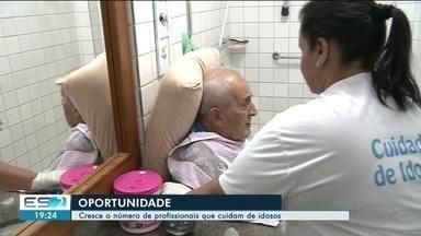 Aumento da população idosa faz crescer número de cuidadores, no ES - Aumento da população idosa faz crescer número de cuidadores, no ES