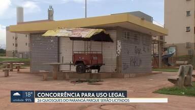 Quiosques do Paranoá Parque serão licitados - Os 26 quiosques que ocupam a área estão irregulares. A maioria foi destruída.