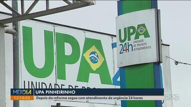 UPA Pinheirinho irá manter atendimento a urgências - Prefeitura volta atrás e determina que a UPA Pinheirinho continue atendendo pacientes de urgência após a reforma.