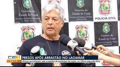 Vítimas reconhecem sete suspeitos de arrastão no Lagamar - Saiba mais em g1.com.br/ce