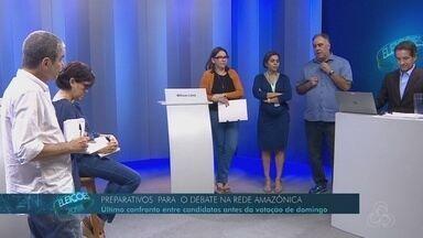Rede Amazônica realiza último ensaio geral para o debate do 2º turno para o governo do AM - Rede Amazônica realiza último ensaio geral para o debate do 2º turno para o governo do AM