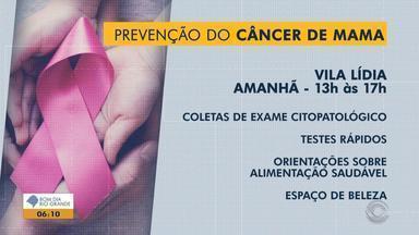 Santa Maria tem ação de prevenção ao câncer de mama - Assista ao vídeo.
