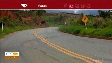 Motoristas estão com medo de estrada em Muniz Freire - A pista está com problemas na pista.