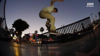 Street com Carlos Iqui em Long Beach