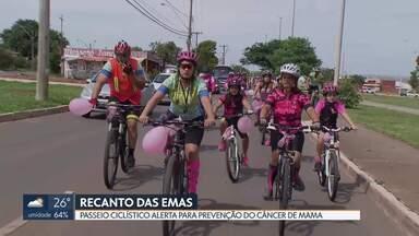 Passeio ciclístico no Recanto das Emas - Ciclistas reforçam a importância da prevenção do Câncer de Mama