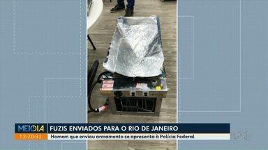 Pessoa que enviou fuzis em voo se apresenta à polícia - As armas foram apreendidas em aeroporto do Rio de Janeiro.