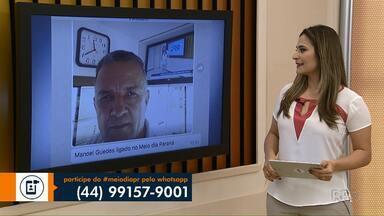 Telespectador participa do Meio-Dia Paraná - O Manoel Guedes está trabalhando e ligado na programação da RPC