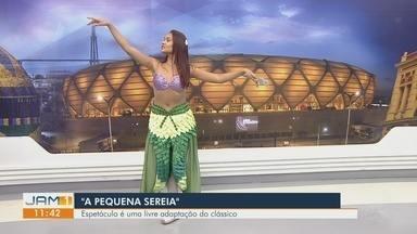 Espetáculo 'A pequena sereia' é opção para o fim de semana em Manaus - Espetáculo é uma livre adaptação do clássico.