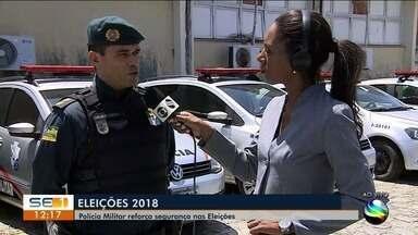 Polícia Militar de Sergipe vai reforçar segurança nas Eleições 2018 - A repórter Maristela Niz tem mais informações.