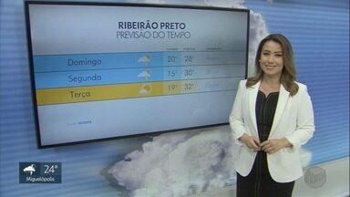 Confira a previsão do tempo para o domingo (28) na região de Ribeirão Preto - Há possibilidade de pancadas de chuva a qualquer hora do dia.