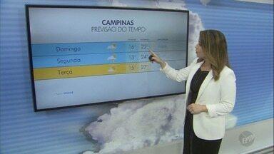 Confira a previsão do tempo para as cidades da região neste domingo (28) - Com Sol entre nuvens, Campinas (SP) registra máxima de 22ºC.