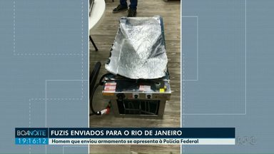 Homem que enviou armamento se apresenta à Polícia Federal - Os fuzis foram enviados para o Rio de Janeiro.