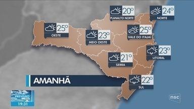 Veja como ficará o tempo em todas as regiões de SC neste domingo (28) - Veja como ficará o tempo em todas as regiões de SC neste domingo (28)