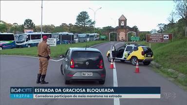 Estrada da Graciosa fica bloqueada por causa de corrida - Mais de mil atletas devem participar de meia maratona.