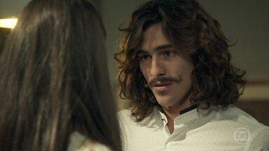 Bento se declara para Natália - O congelado diz à jovem que deseja que ela o guie pelo mundo do amor