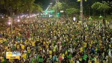 Pernambucanos comemoram eleição de Jair Bolsonoro - Dia da eleição transcorreu tranquilamente.