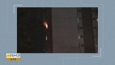 Incêndio atinge apartamento em condomínio na Zona Centro-Sul de Manaus - Fogo começou por volta de 19h deste domingo (28).