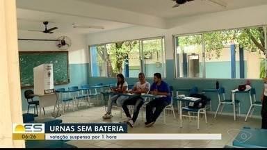 Seção de votação é suspensa por uma hora por falta de energia em Baixo Guandu, no ES - O município também ficou sem telefone.