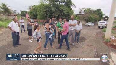 MG Móvel confere obras concluídas na Rua Aldo Costa, em Sete Lagoas - É a quarta visita da reportagem ao local. Veja como está o andamento.
