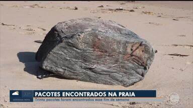 Pacotes suspeitos foram encontrados em praias do litoral piauiense - Pacotes suspeitos foram encontrados em praias do litoral piauiense
