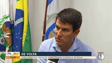 Justiça determina retorno de André Granado à prefeitura de Búzios, no RJ - Assista a seguir.