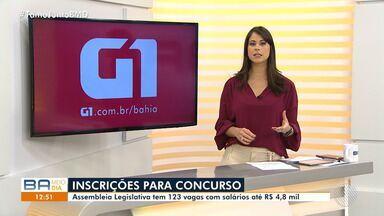 Assembleia Legislativa abre concurso com mais de 120 vagas em Salvador - Mais informações você encontra no g1.com.br/bahia.