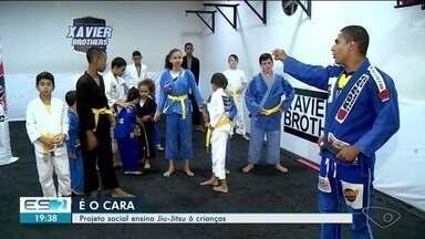É o cara: projeto social no Norte do ES ensina jiu-jitsu para crianças - Projeto é gratuito.