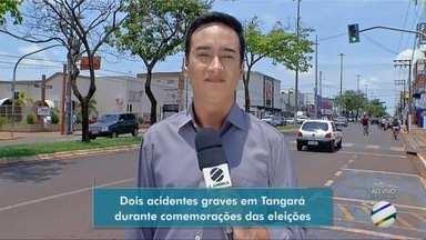 Dois acidentes graves em Tangará durante comemorações das eleições - Dois acidentes graves em Tangará durante comemorações das eleições.