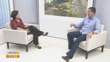 Coronel Marcos Rocha é entrevistado no Jornal de Rondônia 1ª Edição - Candidato do PSL foi eleito pelos votos totais com 66,34%