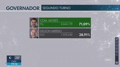 Carlos Moisés da Silva é eleito governador de SC; Gelson Merisio comenta disputa - Carlos Moisés da Silva é eleito governador de SC; Gelson Merisio comenta disputa