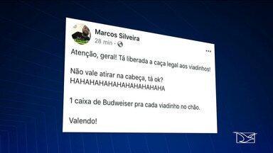 Estudante da UFMA faz postagens de ódio a gays e mulheres; UFMA promete apurar o caso - Marcos Silveira fez postagens nas redes sociais nos últimos dias. Estudantes do curso de Química Industrial emitiram uma nota de repúdio.