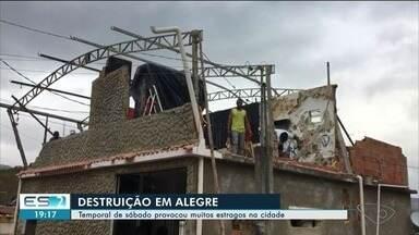 Campus da Ufes em Alegre fica com sinais de destruição após temporal do fim de semana - Mais locais na cidade também ficaram destruídos.