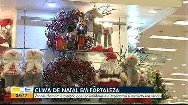 Natal gera expectativa entre os comerciantes - As vitrines já estão decoradas para a data. Pesquisa da Fecomercio mostra expectativa de 12% a mais nas vendas