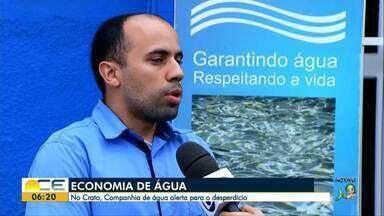 Alerta para o desperdício de água no Cariri - Especialistas alertam para evitar desperdício