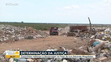 Luís Eduardo: Justiça concede liminar de reintegração de posse após protesto em lixão - Os moradores pedem pelo cumprimento da Lei Federal 12.305/2010, que determina o fim dos lixões.