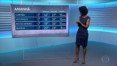 Confira a previsão do tempo para o final de semana - Estudantes que vão prestar o Enem no domingo (04) podem esperar tempo chuvoso no dia da prova.