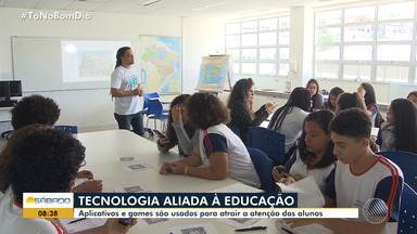Aplicativos e games são cada vez mais usados como apoio à educação - A tecnologia tem sido usada para atrair a atenção dos jovens.