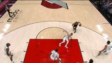 Noite da NBA teve drible desconcertante de jogador do Portland Trail Blazers - Noite da NBA teve drible desconcertante de jogador do Portland Trail Blazers