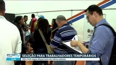 Empregos temporários devem crescer em todo estado de São Paulo - A expectativa é que as empresas contratem 10% a mais que no ano passado