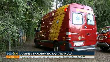 Rapaz morre depois de se afogar no rio Tamanduá, em Foz do Iguaçu - Um adolescente também foi socorrido pelo Siate.