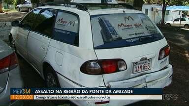 Polícia procura quadrilha de assaltantes que age na região da Ponte da Amizade - Eles costumam roubar táxis para cometer assaltos.