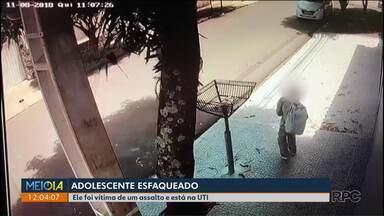 Adolescente é esfaqueado durante assalto em Maringá - Ele está internado na UTI do Hospital Bom Samaritano.