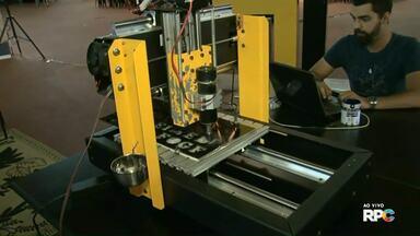 Começou a Arenatech em Francisco Beltrão - O evento reúne invenções de estudantes de diversos cursos.
