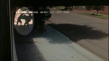 Adolescente de 17 anos esfaqueado durante assalto está internado na UTI - Câmeras de segurança registraram o roubo em Maringá.