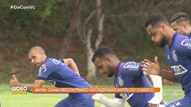 Bahia tem clima discontraído no 'Fazendão' antes do clássico - Os jogadores continuam com o treino intensivo para o domingo (11).