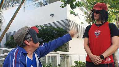 Jair e Vicentino: quadro de humor do GE mostra pirraça entre torcedores - Dupla mantém amizade, mas não tem acordo quando o assunto é o time de futebol do coração.