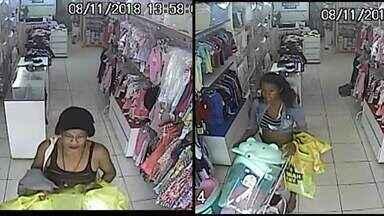 Polícia procura mulheres que roubaram uma loja no Riacho Fundo 2 - O roubo foi no início da tarde, as duas mulheres rendem a funcionária e levam várias roupas infantins, dinheiro e um celular. O caso foi registrado na delegacia do Riacho Fundo 1.
