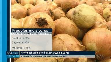 Cesta básica está mais cara em Ponta Grossa, de acordo com pesquisa - Foi um aumento de 1,19% comparado com o mês anterior.