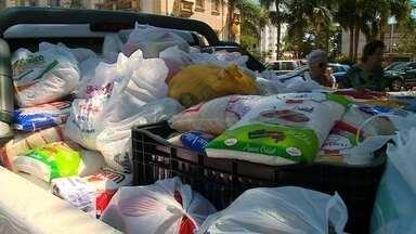 Campanha Natal do Bem arrecada mais de uma tonelada de alimentos - Assista ao vídeo.
