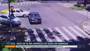 Em nove meses mais de 46 mil motoristas são flagrados avançando sinal em Maringá - Infração é gravíssima, com sete pontos na carteira